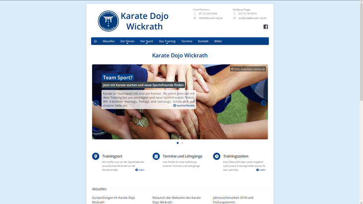 Vereinsseite Karate-Dojo-Wickrath